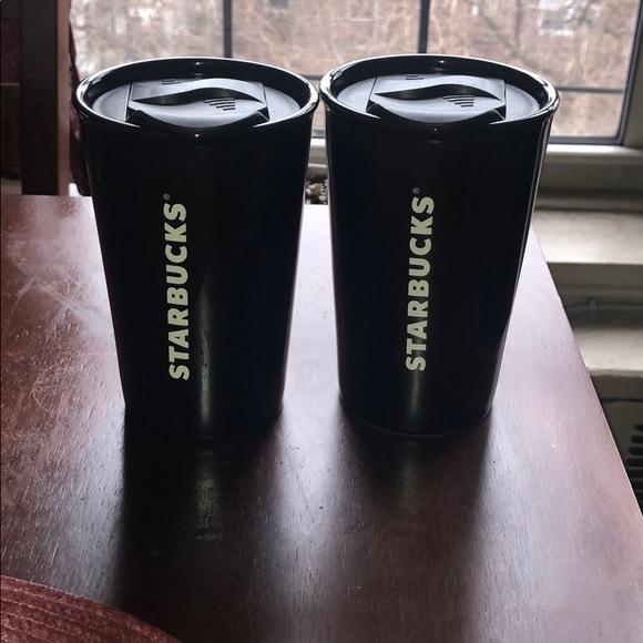 New 2 Starbucks double walled 8oz tumblers